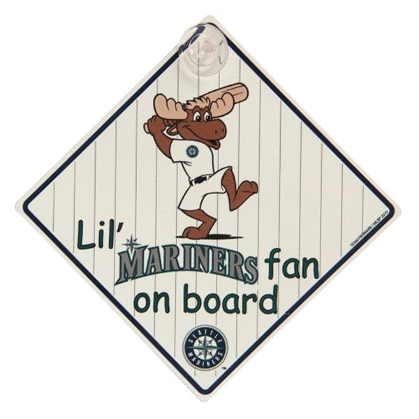 【サインボード】USA子供が乗っていますMLBシアトル・マリナーズ グッズの画像