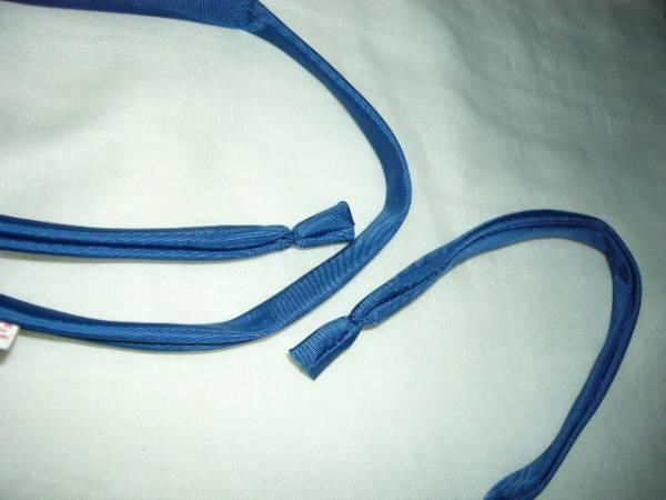 制服のリボン 棒ネクタイ 光沢の青 ハネクトーン 他色も有り=エンジ 緑 紺=売れたら御免なさい 棒タイ コスプレや宴会に 未使用_画像3