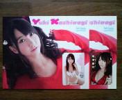 新品『AKB48-柏木由紀』QUOカード・2種台紙付き