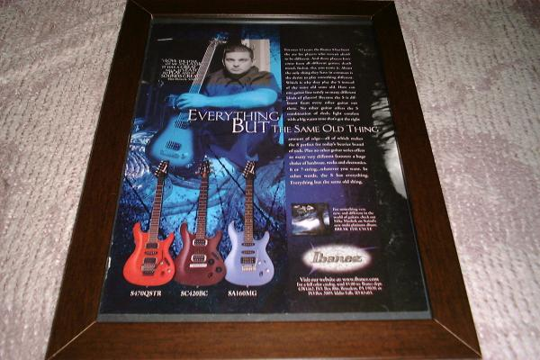 ステインド マイク・ミューショック ギター USA広告 2001年
