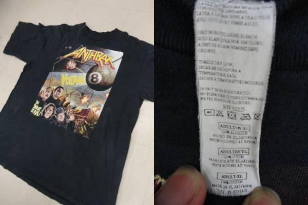 ANTHRAXアンスラックス98-99年ツアーTシャツ【XL】/バンドT