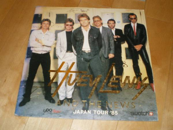 ヒューイ・ルイス&ザ・ニューズ/ツアーパンフレット1985
