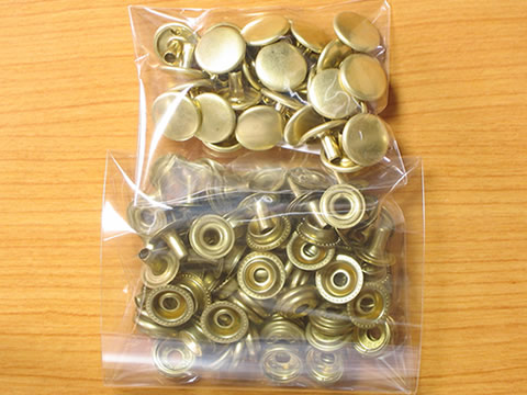 ジャンパーホック大足長真鍮無垢30個セット生地7050ボタン金具屋_画像2