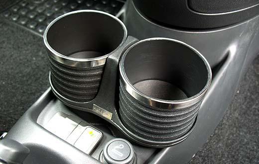 FIAT 500(-'15) ドリンクホルダー/ブラック&リング AL-140BS 【ALCABO】 新品/フィアット/アバルト/ABARTH/_画像3