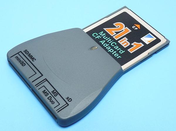 xDピクチャーカード⇒CFカード変換アダプター メモリースチックDuo⇒CFカード変換 MMC/SDHC/SDカード⇒CFカード変換 薄型スロットに◆21-CF