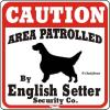 ●イングリッシュセター コーションサイン 他犬種も多数有り●