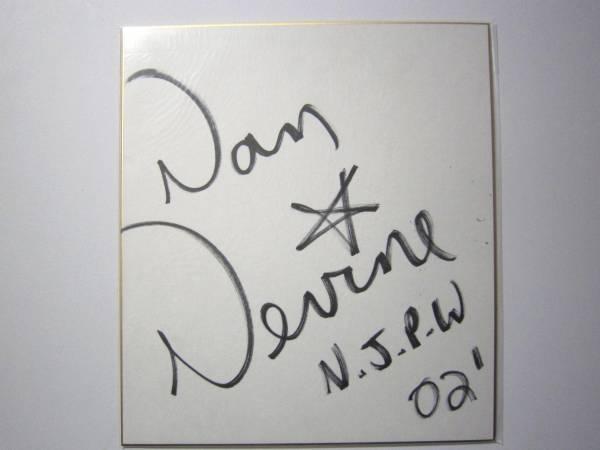 1461 サイン 色紙 新日本プロレス ダン・デバイン グッズの画像