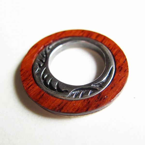 ペンダントトップ メンズ シルバー 925 新品 送料込 銀と木製リング型 (170-1)_画像3