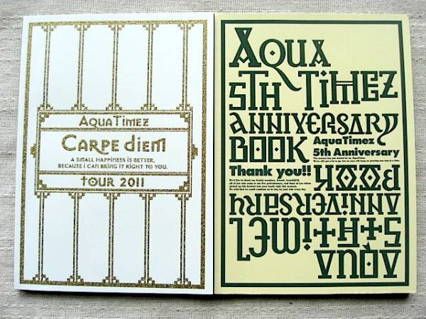 Aqua Timez パンフ Carpe diem tour 2011+5th ANNIVERY BOOK