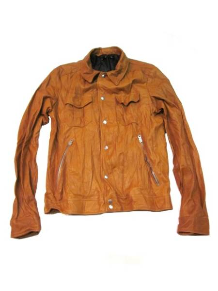 □ Harlem Rounge PIGベジタブルタンニングシャツJK CAM L新品
