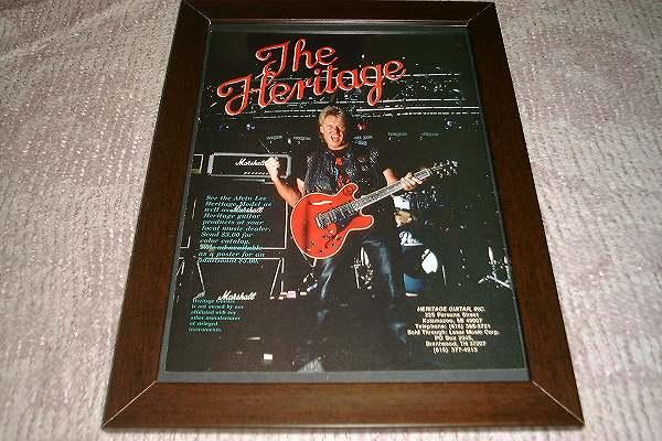 アルヴィン・リー ギター USA 広告