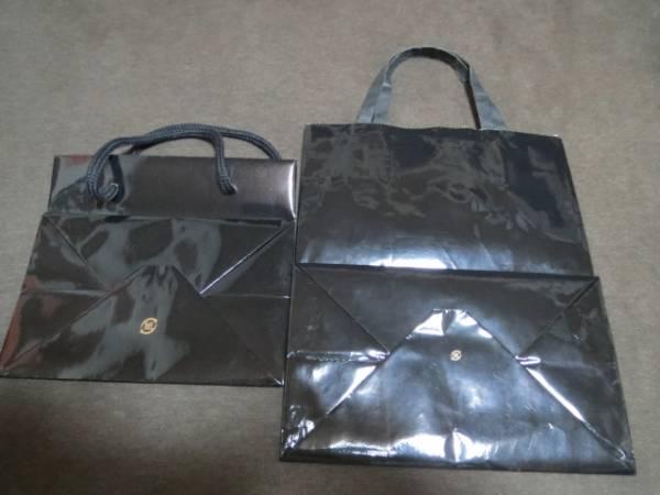 ★新品★DEMEL ショップ袋 黒 大きさ2種セット_画像2