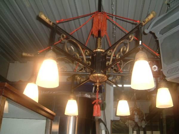 【明かり】*「大正シャンデリアW24」、明かり、時代物,〝燈〟_画像2