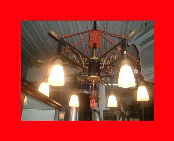 【明かり】*「大正シャンデリアW24」、明かり、時代物,〝燈〟_古き良き時代大正の豪華なシャンデリア