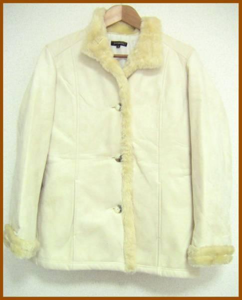 096c9495bed 代購代標第一品牌- 樂淘letao - 876【jean jaures】白/ホワイト☆フェイクファー付きコート☆M