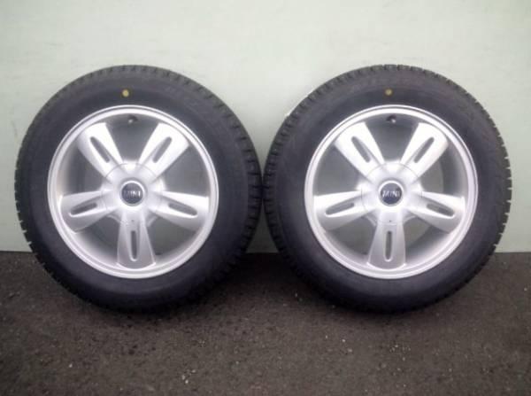 BMW MINI ONE COOPERワンクーパーミニ純正アルミ5.5J +45 4H100 175/65R15未使用スタッドレスブリヂストンブリザックレボ REVO BRIDGESTONE