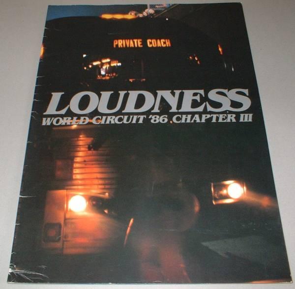 ラウドネス パンフ[LOUDNESS WORLD CIRCUIT '86 CHAPTER Ⅲ]