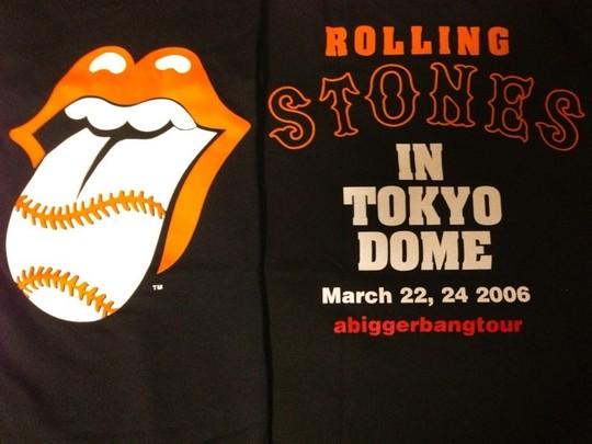 ローリングストーンズ Tシャツ 2006年 来日 野球 ライブグッズの画像