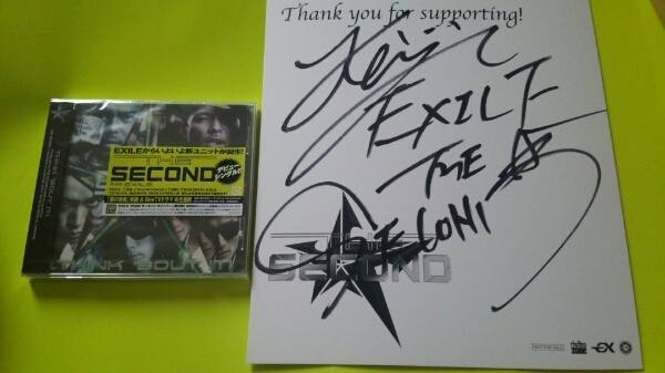EXILE☆会員限定☆THE SECOND直筆サイン色紙《KEIJI》+CD ☆黒木啓司/HiGH&LOW