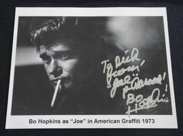 1973年 アメリカン・グラフィティ ボー・ホプキンス 直筆 サイン