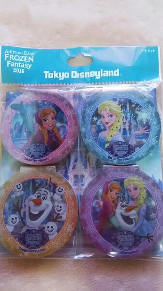 TDL★アナとエルサのフローズンファンタジー☆メモセット♪♪ ディズニーグッズの画像
