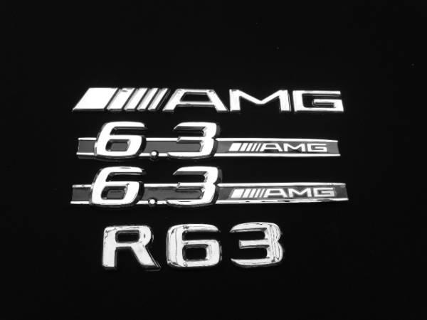 AMG仕様/リア/トランク+サイド/フェンダー/エンブレム『AMG』+『R63』+『6.3AMG』BENZベンツW251R350R500R550/Rクラス/前期/後期/エアロ