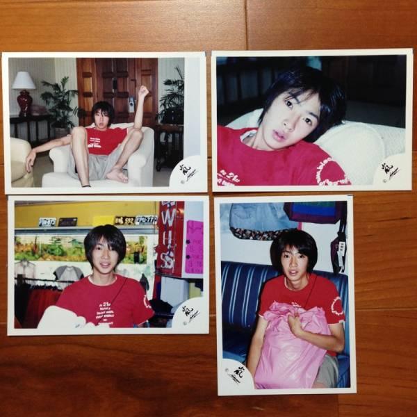 即決¥4000★嵐 公式写真 1130★相葉雅紀 ハワイ 貴重 嵐ロゴ 4枚セット