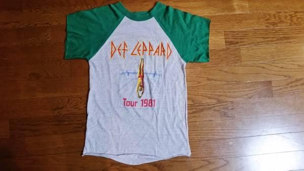 81年DEF LEPPARDデフレパードHigh'n' DryツアーラグランTシャツ