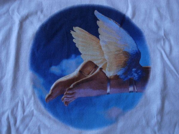90's Anton Bruehl FOTOFOLIO WING FOOT フォト Tシャツ L 白 アントン・ブルール ウィングフット ART芸術 現代美術 美術館 写真 写真家 /_画像1