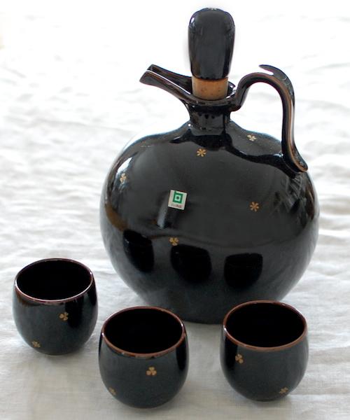 [life] 白山陶器 ウイスキーボトル&カップ 3個 (未使用)