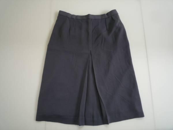 【お買い得!】 ● 台形スカート ● ブルーグレー系 7分丈 無地