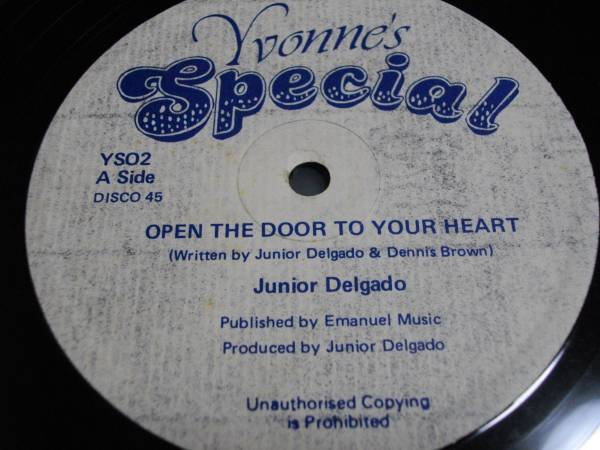 12inch org Junior delgado [open the door to your heart] EX- reggae レゲエ roots ルーツ vintage ビンテージ レコード デルゲイド_画像2