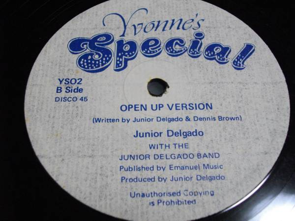 12inch org Junior delgado [open the door to your heart] EX- reggae レゲエ roots ルーツ vintage ビンテージ レコード デルゲイド_画像1