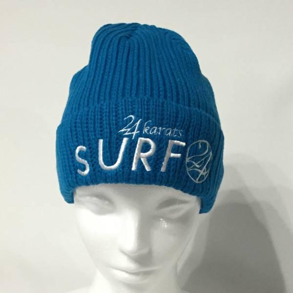 ☆ハワイ 24 karats SURF ニット帽 BLUE TAKAHIRO☆