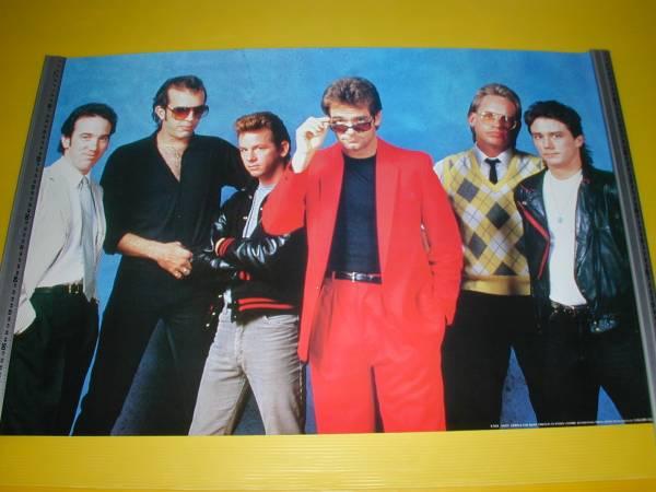 ◆音楽】【ヒューイルイス】ポスター】E-934【1986年新品】