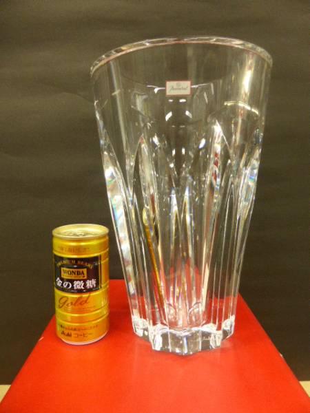 ★共箱 未使用保管品 ★ バカラ Baccarat  クリスタルガラス ポリーヌ  花瓶 花器 フラワーベース 高さ25cm_画像1