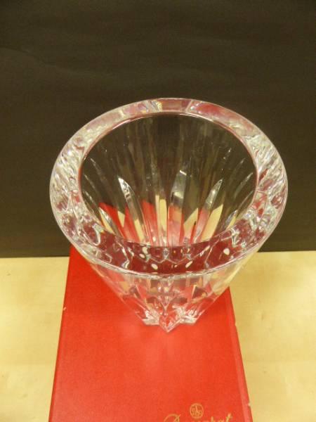 ★共箱 未使用保管品 ★ バカラ Baccarat  クリスタルガラス ポリーヌ  花瓶 花器 フラワーベース 高さ25cm_画像3