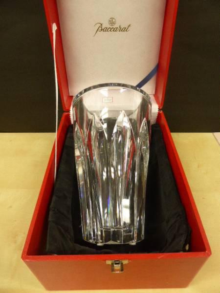 ★共箱 未使用保管品 ★ バカラ Baccarat  クリスタルガラス ポリーヌ  花瓶 花器 フラワーベース 高さ25cm_画像2