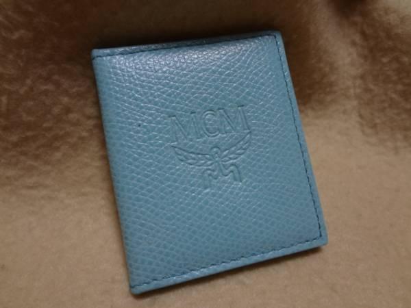 MCM★ミニ・フォトケース 写真ケース★レア色限定色 ライトブルー★未使用_画像1