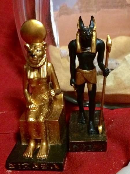 ★サハラ砂漠 テラリウム ガラス エジプト 神 ラクダ フィギュア インテリア 置物 コレクション_画像3