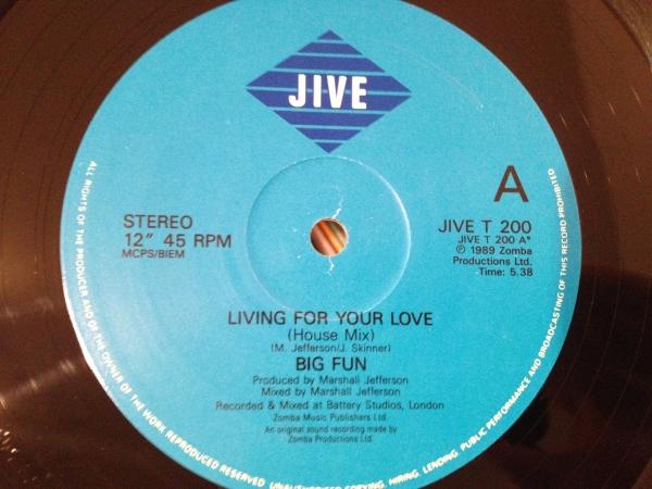 ☆Big Fun/Living For Your Love☆ハウスクラシック!_画像2