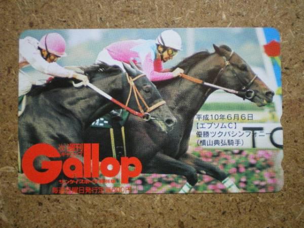 I1176A・Gallop ツクバシンフォニー 競馬 抽プレ テレカ_画像1
