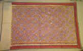 インド グジャラート地方のタペストリー 手紡ぎの木綿 19世紀終