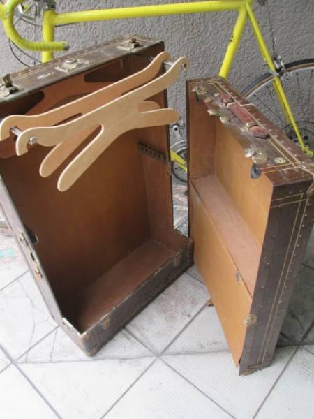 レア!40's~50's USA製アメリカアンティーク トランクケース インダストリアルインテリア/VOGUE船旅イギリス店舗什器ディスプレイ_画像1