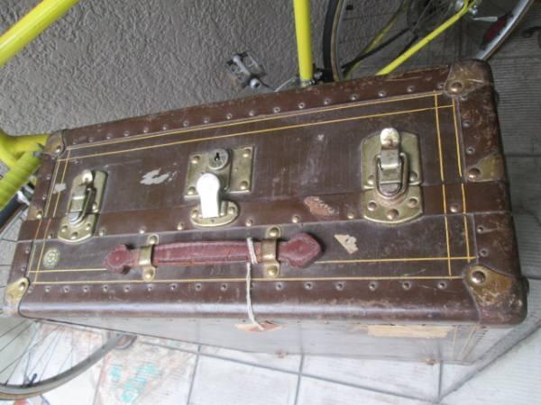 レア!40's~50's USA製アメリカアンティーク トランクケース インダストリアルインテリア/VOGUE船旅イギリス店舗什器ディスプレイ_画像3