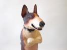 即決 朝隈俊男 犬の留守番ブルテリアビックサイズ レアカラー