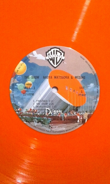 LP 松岡直也&ウィシング/THE SHOW オリジナルカラー盤 WLL-1盤美_画像2