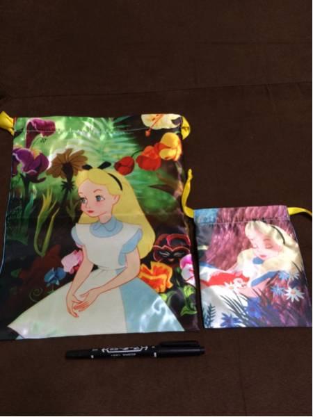 新品 ディズニー 不思議の国のアリス 巾着袋 セット ポーチ ディズニーグッズの画像
