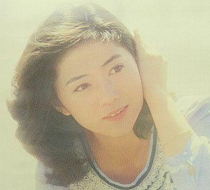 昭和時代水色ワンピースで膝をつく石川さゆりポスター★52×74㎝