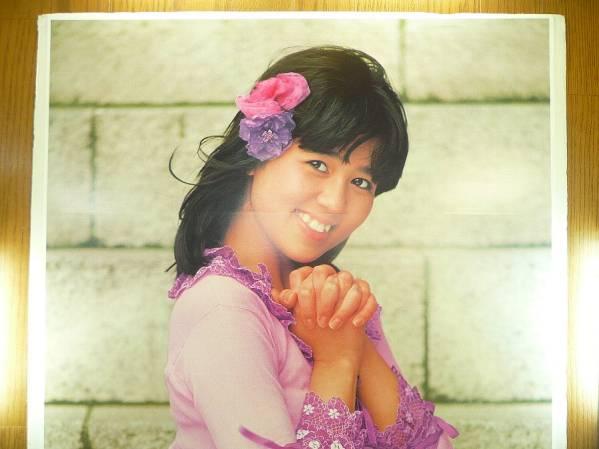 A_1970 годы Showa 50 годы в это время моно большой размер постер Ishino Mako розовый юбка